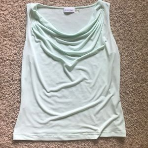Solid drape neck cami by Calvin Klein